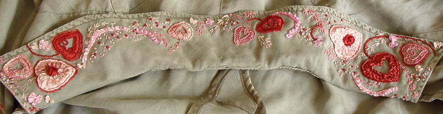 Bespoke Ribbon Embroidery For Fashion Design Clothes